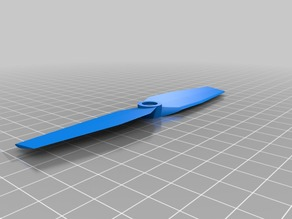 "5*3"" 2 bladed propeller (OpenSCAD) CW+CCW"