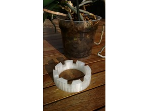 customizable parametric height adjuster for orchid planters