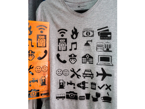 travel shirt stencil decal