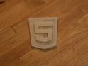 3d printed html 5 logo