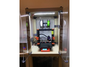 Dual parallel LED strip holder (for Prusa enclosure or otherwise)