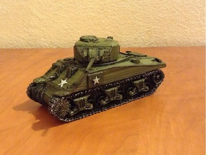 Tank Sherman scale 28 mm