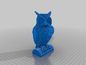 Pixelated Owl