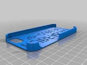 Kubfab/3D-Cube Stencil Font iPhone5 Slim Case