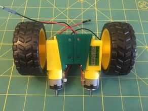 Small Gear Motor Mount (Dagu) Side Mount Remix + Robot Chassis