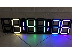 Retro 7 Segment Clock XT (Extension Parts)