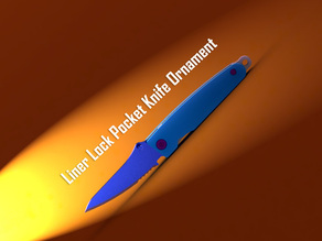 Liner Lock Pocket Knife Ornament