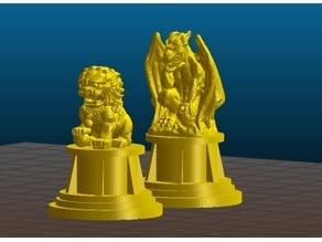 Gargoyle & Dragon statues - Miniature Terrain bits