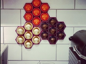 Nespresso Capsule Honeycomb Snowflake Wall Holder