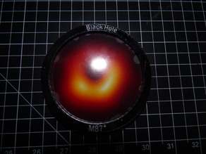 M87 Black Hole Drink Coaster