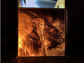 Daenerys Targaryen Lithophane