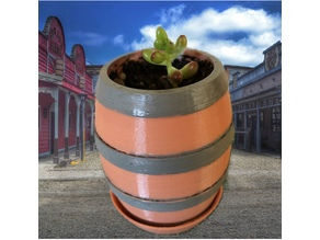 Customizable Barrel Planter