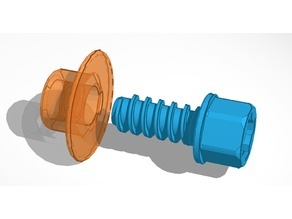 Plastic nut and bolt for Battat take-apart toy