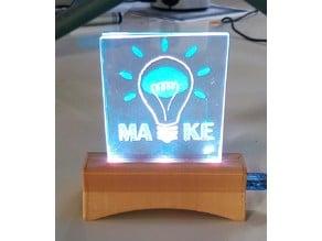BASE FOR ACRYLIC LED ANIMATIONS