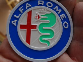 4 colors Alfa Romeo Logo