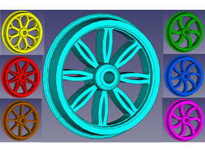 Era 1 wheels  for 1 Gauge trains (1/32)
