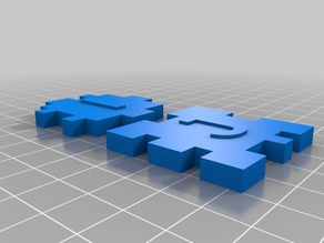 """My Customized """"I Dig 3D"""" 6 Piece Puzzle"""