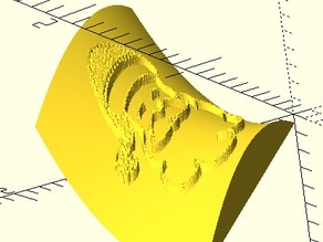 Wrap image on curved surface for OpenSCAD