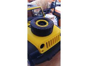 Spare wheel 1/8 scale Jeep from 3dsets