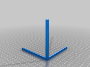 Improved printer testpiece for orthogonal axis correction