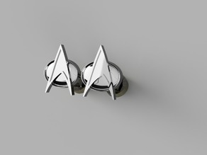 The Next Generation Combadge Cufflinks