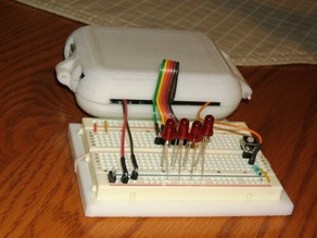 Arduino Uno Clamshell Case and Breadboard Fixture