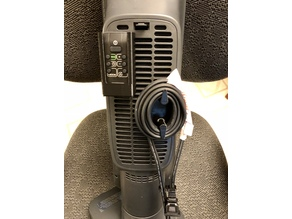 Remote Holder, Cord Wrap, and Cord Clip for DeLonghi Space Heater