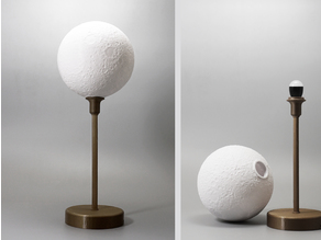 Moon lamp with base