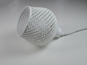 Shapeshifter lampshade, inspired by the Dentelle collection