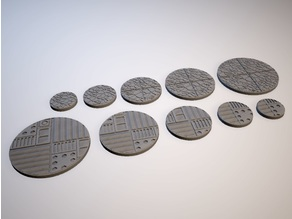 Z.O.D. Junker Chic Theme Bases (28mm/Heroic scale)