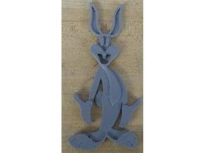 Bugs Bunny 3D-2D Art
