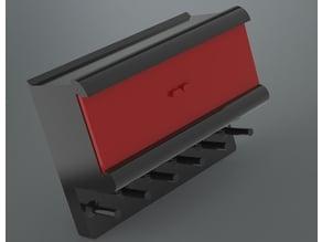 Key holder with built in shelf.