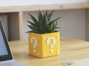 Mario Bros Planter - Single/Dual Extrusion Minimal Planter