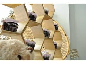 Stackable Honeycomb Display
