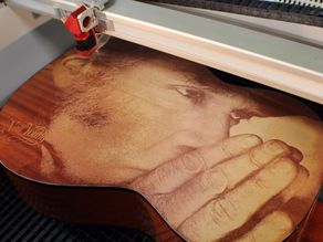 Neil Young Laser Engraved Guitar