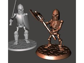 28mm Dwarf Skeleton Warrior with Two Handed Axe