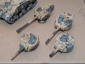 Sherman 105mm Turret (1/56 Scaled)
