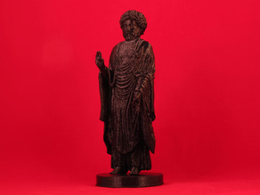 Inverted Standing Buddha Marcus Aurelius with Manual Supports