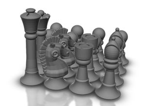 Chess. Set of sets  - All OPENSCAD - All Random