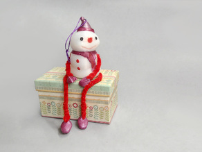 Decorative Snowman - Container
