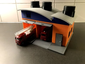 Fireman Sam Inspired, Solar Powered Fire Station