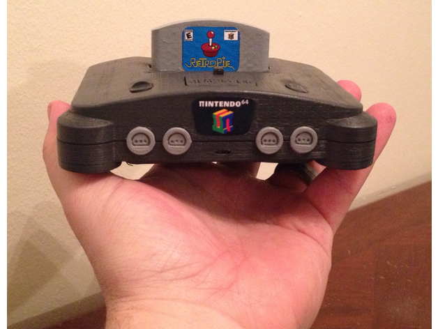 P64 Mini N64 Case For Rpi3 4 By Elhuff Thingiverse