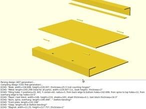 Parametric hinged book cover