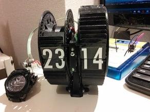60flaps * 2drums  split flap display clock
