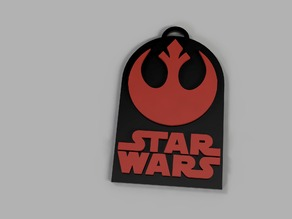 Star Wars Rebel Badge/Keychain/Necklace