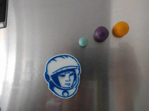 gagarin fridge magnet