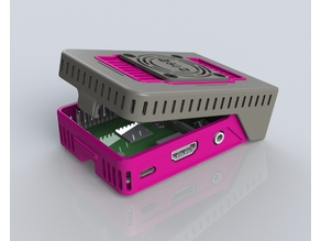 ePIc snapPI hinged pi case ( raspberry pi case 2 3 and 4 )