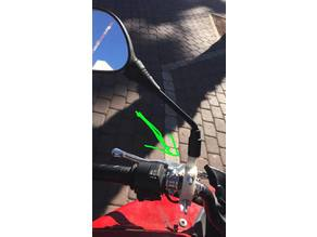 Universal motorcycle mirror stand