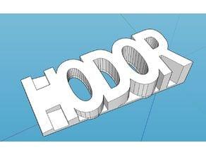 HODOR Door Stop (Inspired by Game of Thrones)