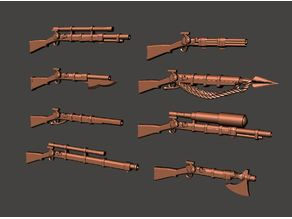 More 28mm Fantasy Arsenal of Muskets Percussion / Flintlock Firearms and Guns
